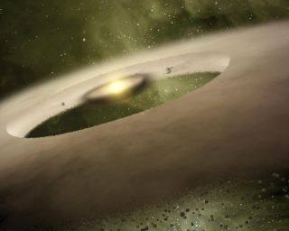 Impression of donut-shaped disk around star