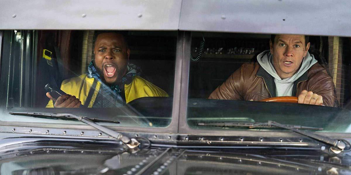Winston Duke and Mark Wahlberg in Spenser Confidential