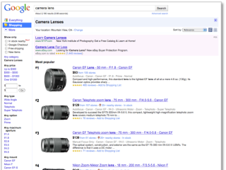 Google Product Search - we liked Froogle better...