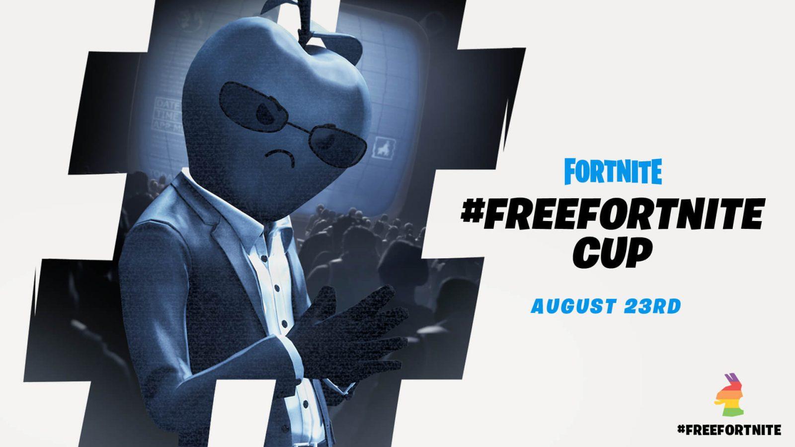 #FreeFortnite Cup poster