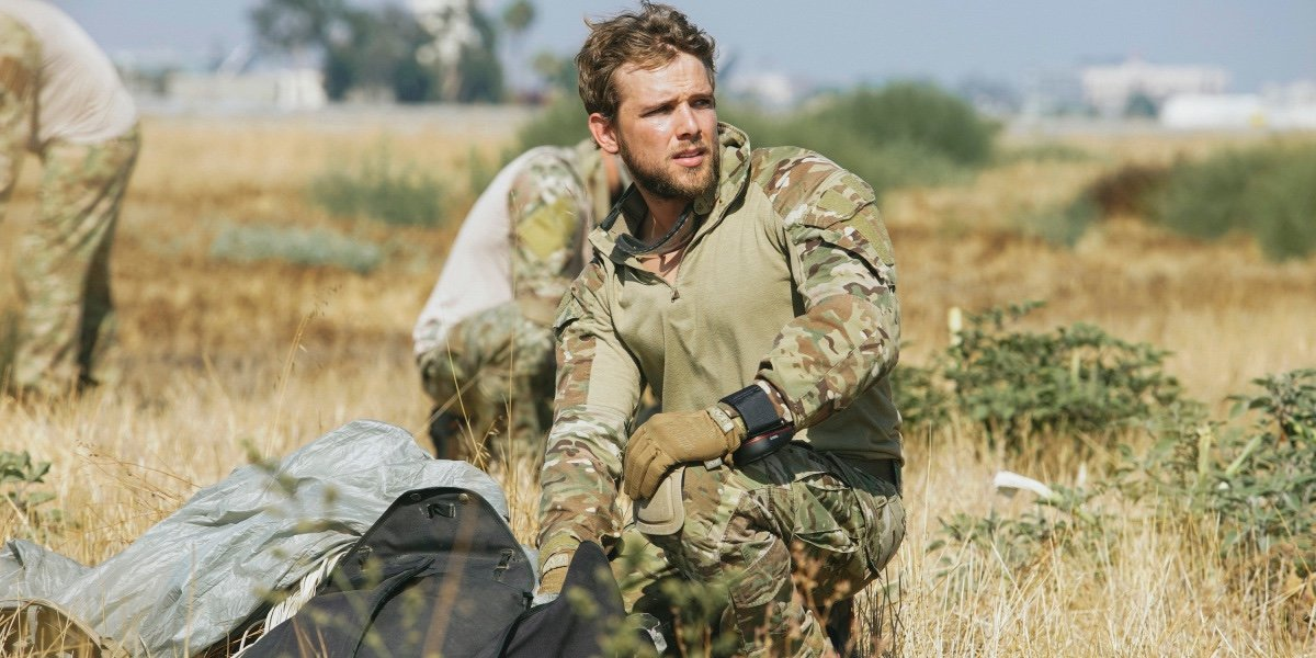 Max Thieriot as Clay Spenser in SEAL Team.