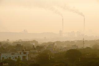 Pollution over New Delhi