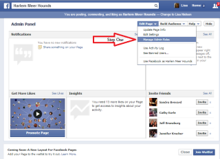 How to change your Facebook administrator from a personal to professional account