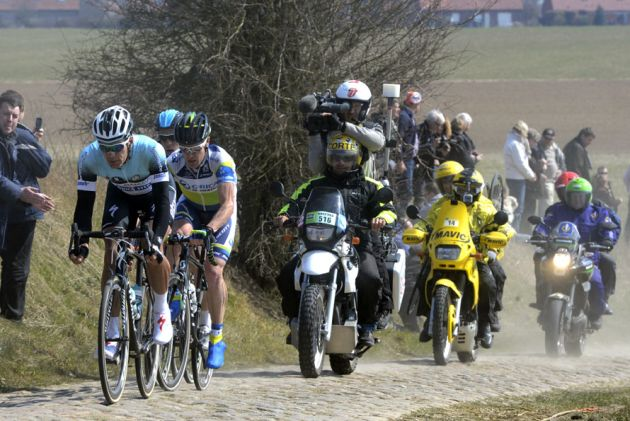 Steegmans, O'Grady and Hayman, Paris-Roubaix 2013