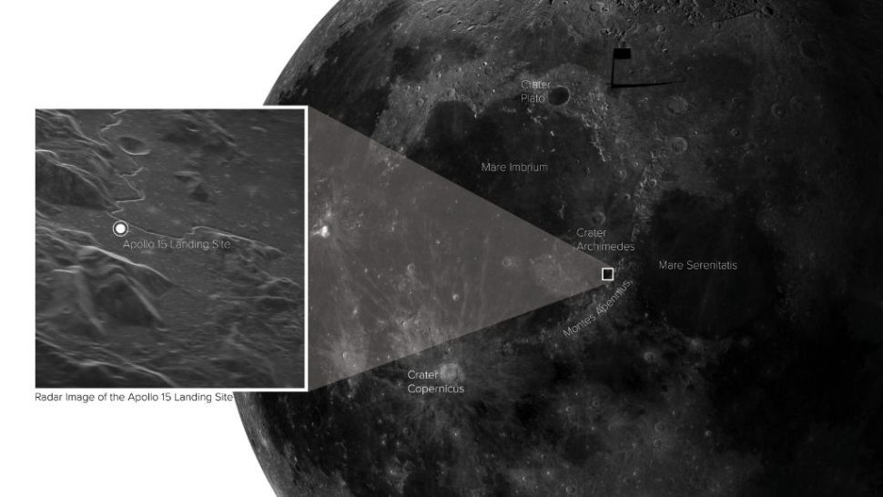 Apollo 15 landing site is strikingly clear in image captured from Earth