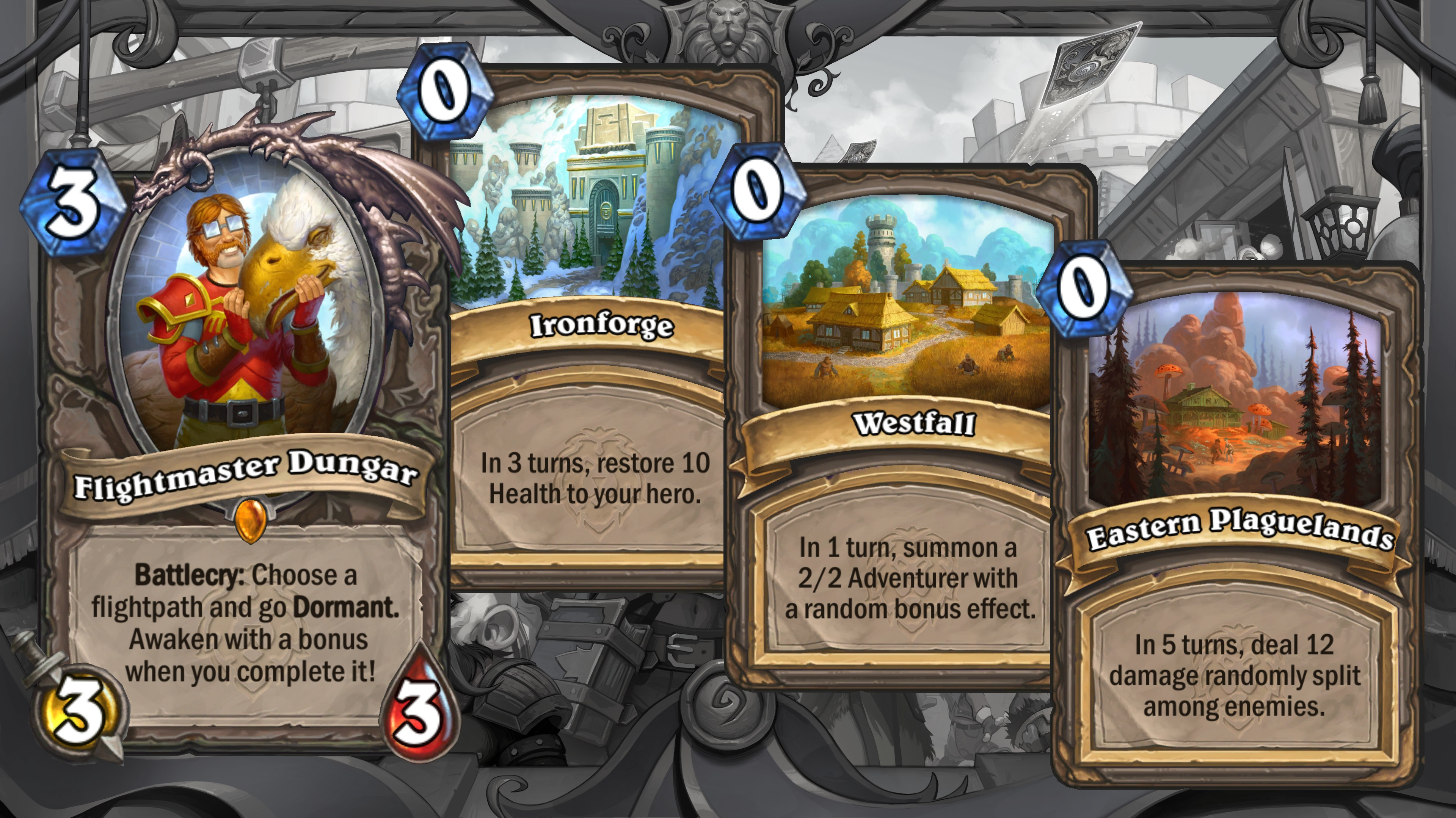 United in Stormwind announcement cards