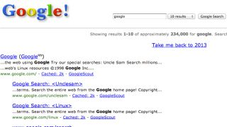 Celebrate Google's birthday by searching like it's 1998