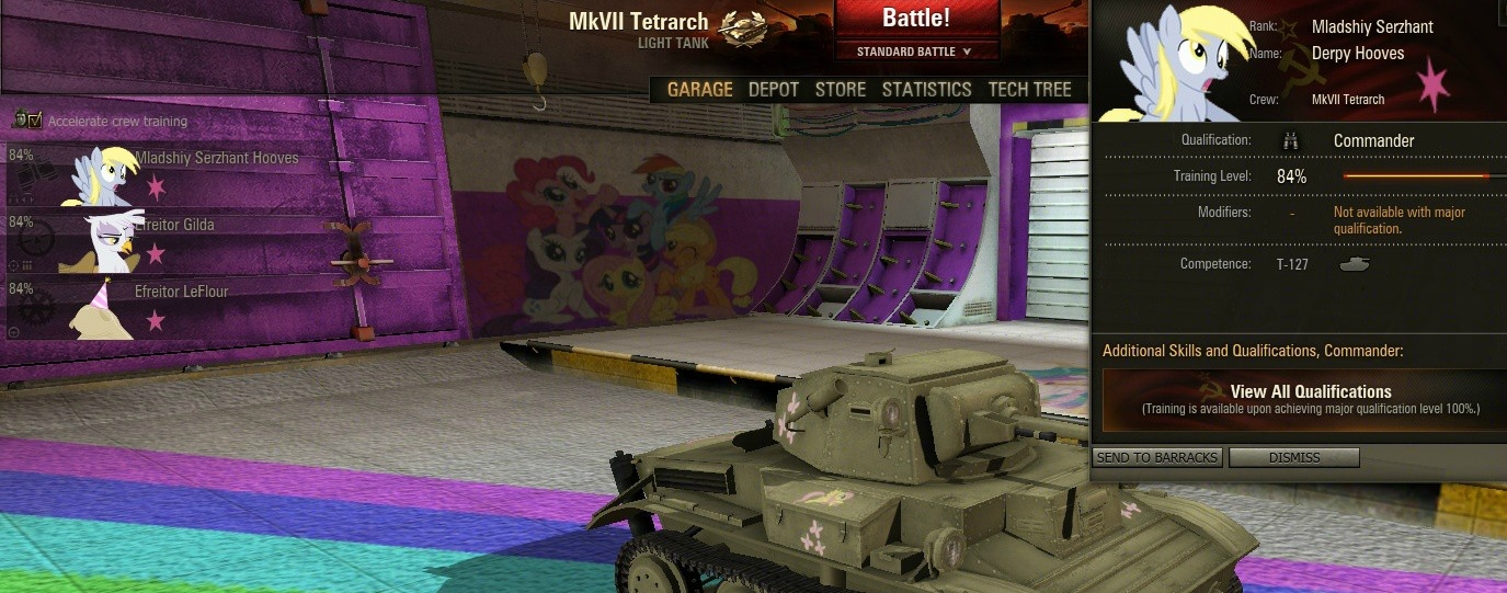 World of Tanks gets a My Little Pony mod, as reality descends into