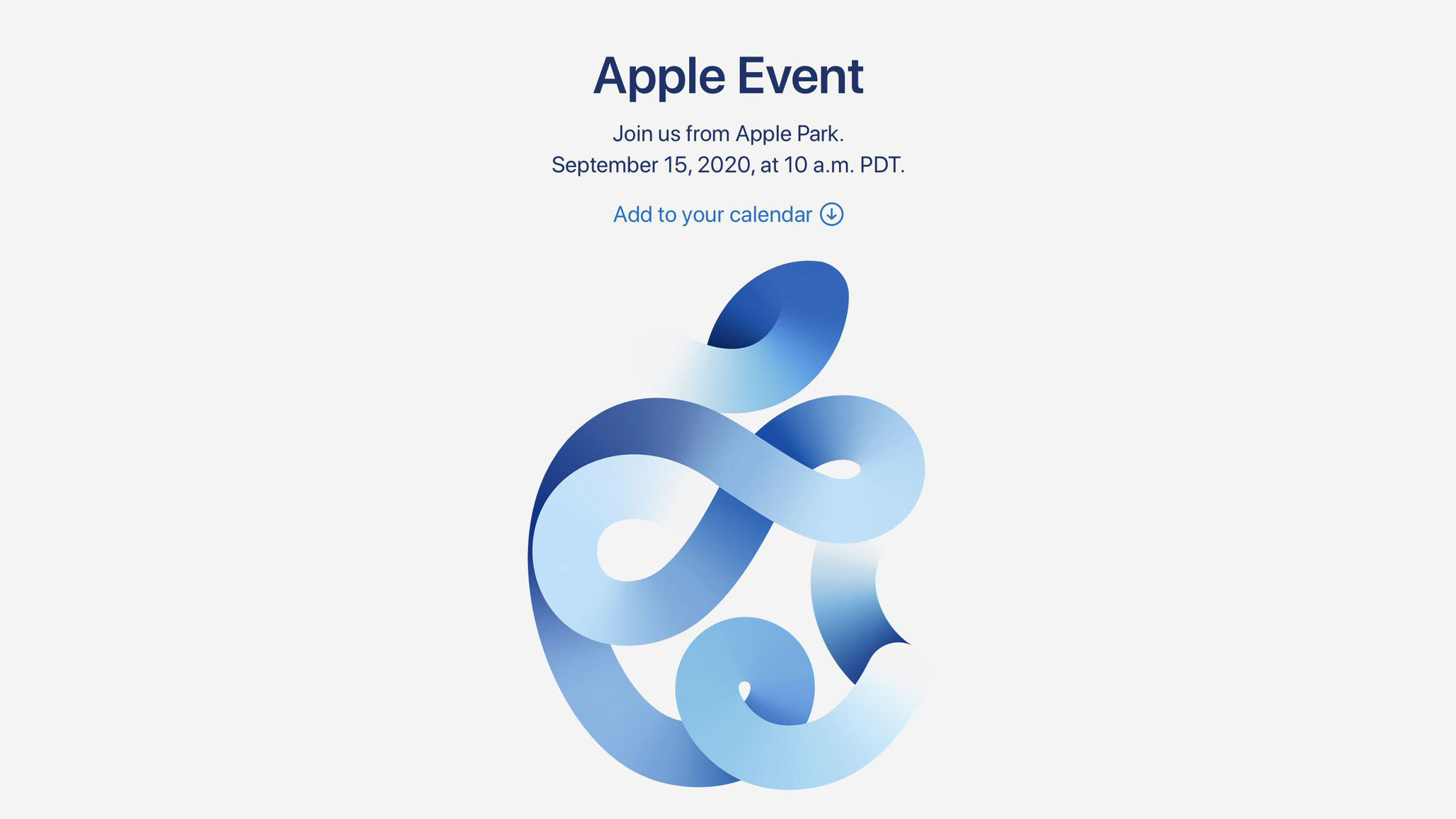 The next Apple event is taking place on September 15.