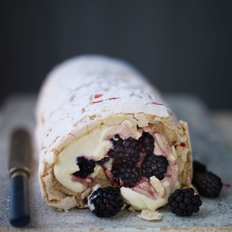 Blackberry Roulade-woman and home