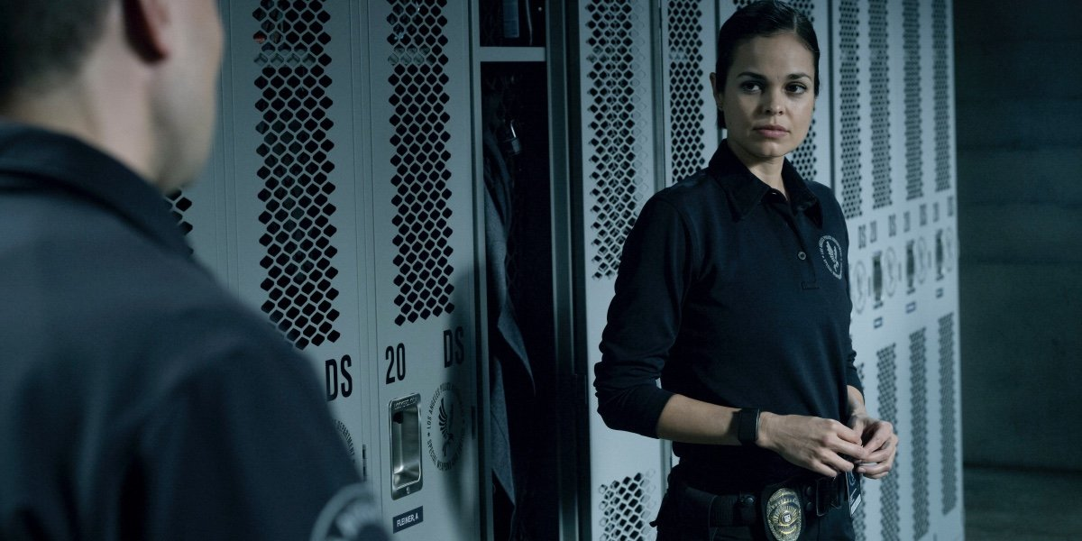 Lina Esco as Chris Alonso in S.W.A.T.