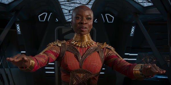 Okoye landing on Wakanda