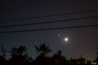 Moon, Venus, and the Pleadies from Arizona