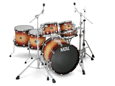 The maple kit: Natal offers A wide range of finishes including this Tobacco Fade lacquer.