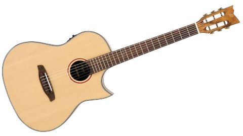 The Coral-NY is a crossover between the steel-string flat-top and the flamenco-style classical guitar