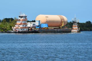 Barge Carrying the External Tank