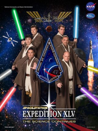 Expedition 45 'Star Wars' Crew Poster