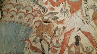 Egyptian cat fresco