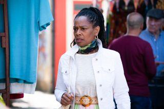 Sheree Trueman is worried in EastEnders