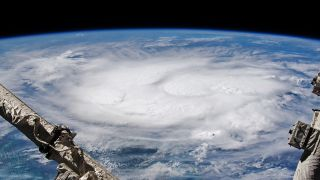Hurricane Elsa, seen here in a photo captured by an astronaut on the International Space Station on July 4, was the first hurricane of the 2021 Atlantic Hurricane Season, and the earliest fifth named storm on record.