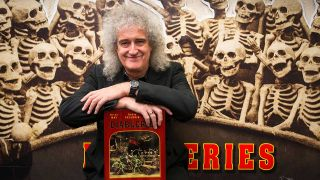 Brian May with Diableries book