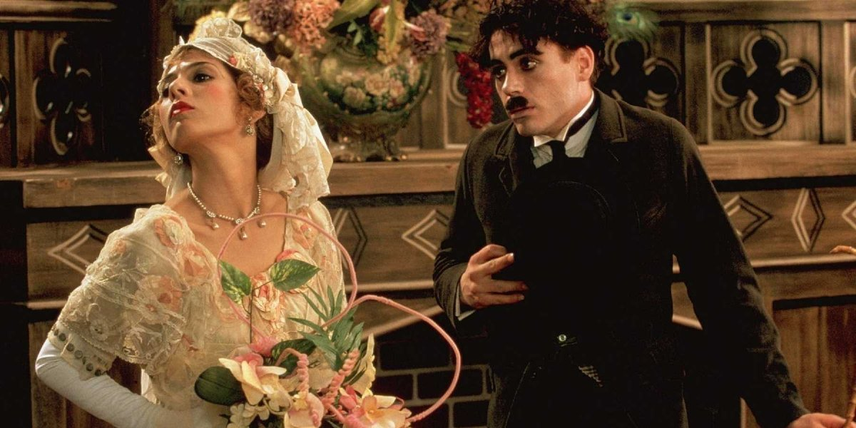 Marisa Tomei and Robert Downey Jr. in Chaplin