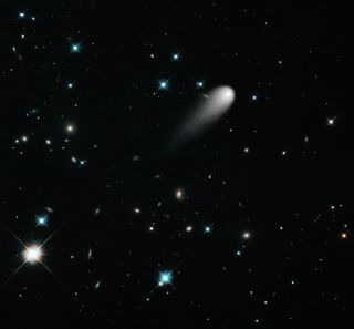 Hubble Photo of Comet ISON, Stars and Galaxies