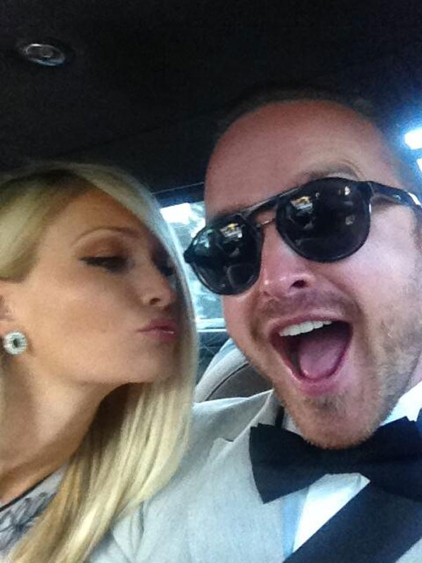 Aaron Paul and wife