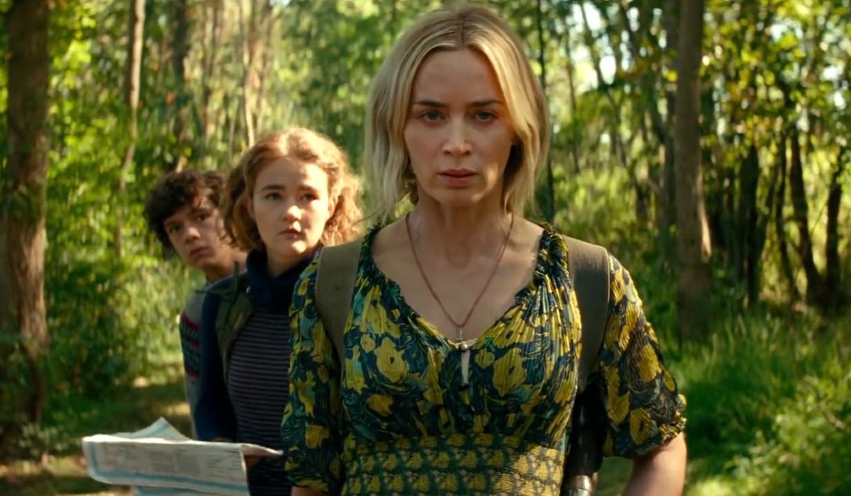 A Quiet Place Part II Emily Blunt leads her children through the forest