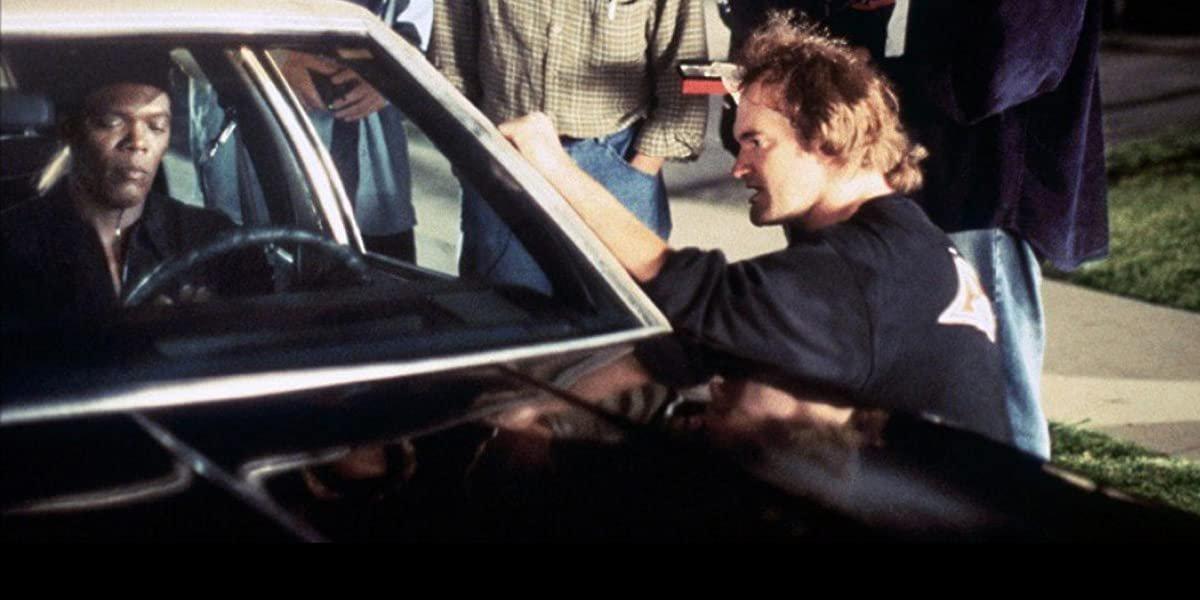 Quentin Tarantino directing Jackie Brown