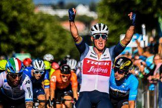Tour of Denmark 2021 - 31st Edition - 2nd stage Ribe - Sonderborg 189,6 km - 11/08/2021 - Mads Pedersen (DEN - Trek - Segafredo) - Giacomo Nizzolo (ITA - Team Qhubeka NextHash) - photo Thomas Sjorup/CV/BettiniPhoto©2021