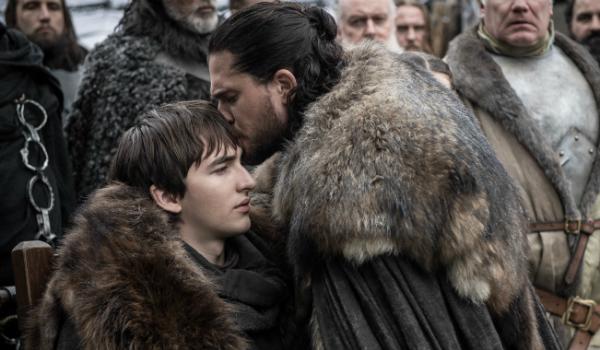 Game of Thrones Bran Stark Isaac Hempstead Wright Jon Snow Kit Harington HBO