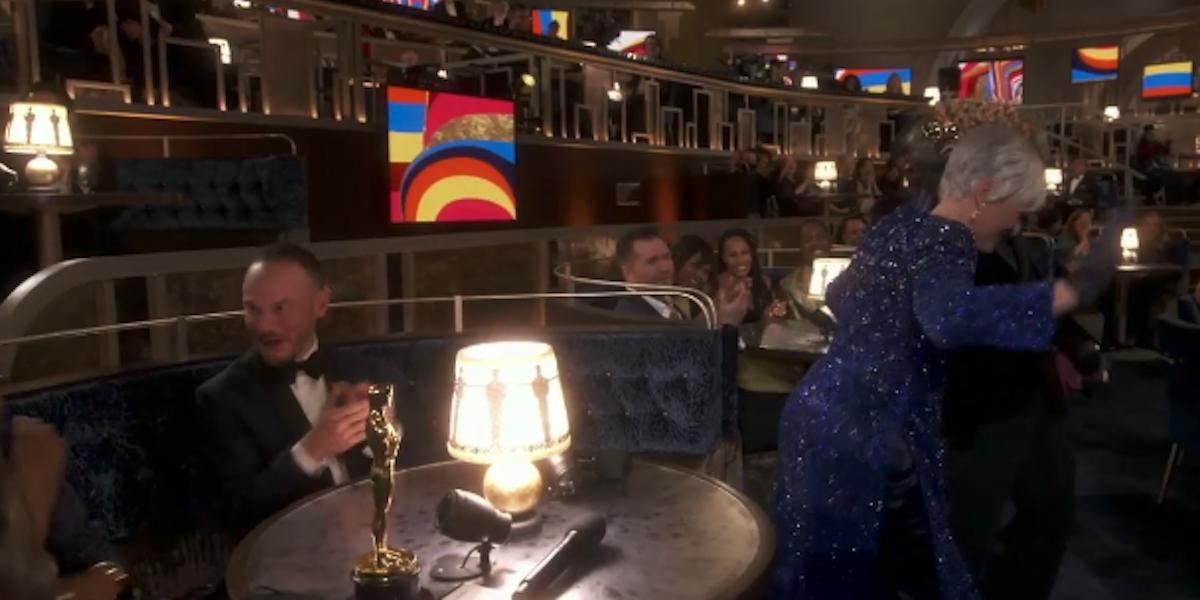 Glenn Close doing 'Da Butt' during the 2021 Oscars