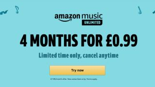 Amazon Music Unlimited 4 months deal banner