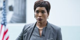 Angela Bassett taking an important phone call at the office in Mission:Impossible - Fallout.