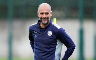 Manchester City manager Pep Guardiola smiling   Manchester City v RB Leipzig live stream