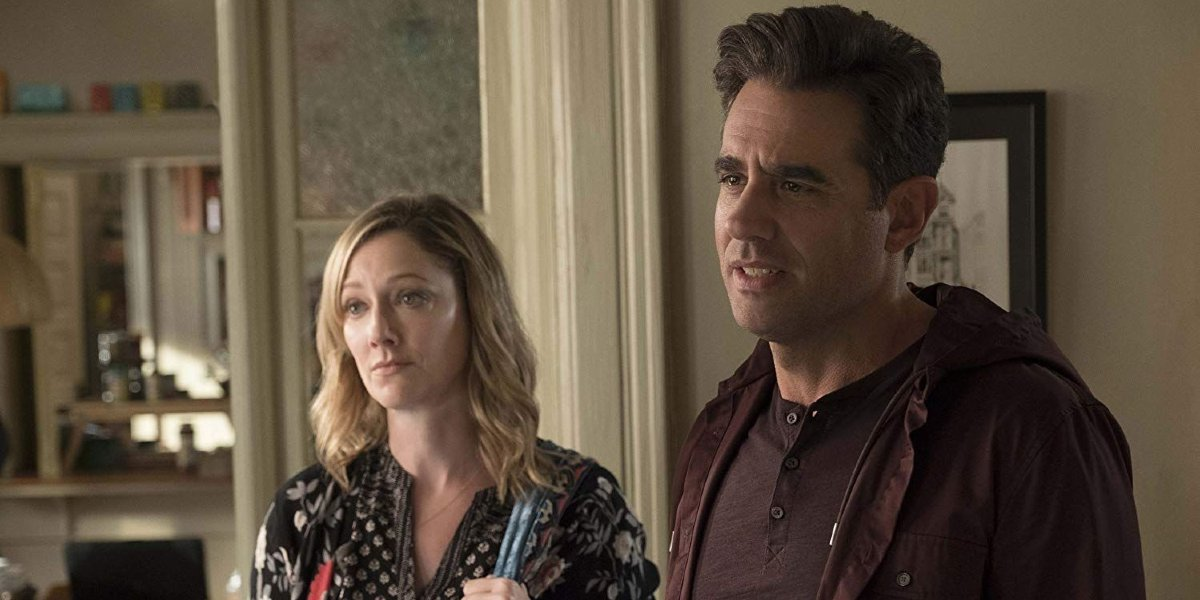 Ant-Man and the Wasp Judy Greer and Bobby Cannavale sharing faces of concern