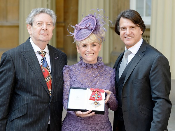 Television star Barbara Windsor with husband Scott Mitchell (rigth) and agent Barry Burnett  (John Stillwell/PA Wire/Press Association Images)