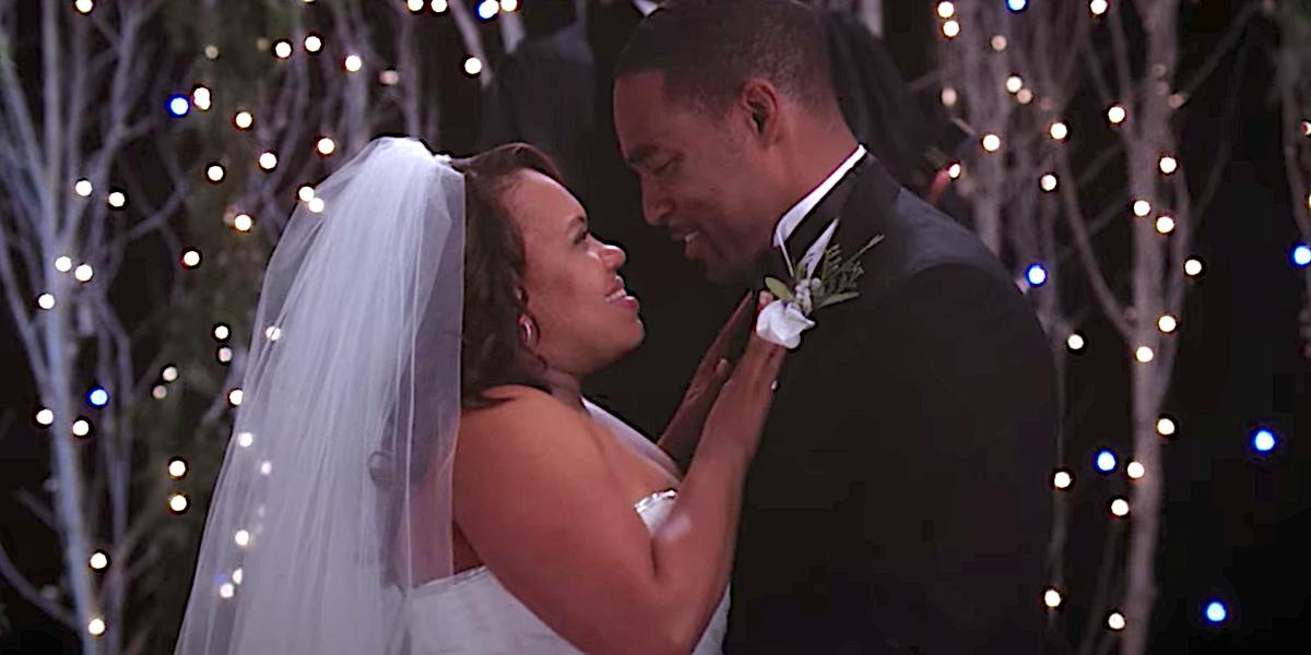 Grey's Anatomy Miranda Bailey hugs Ben Warren at their wedding