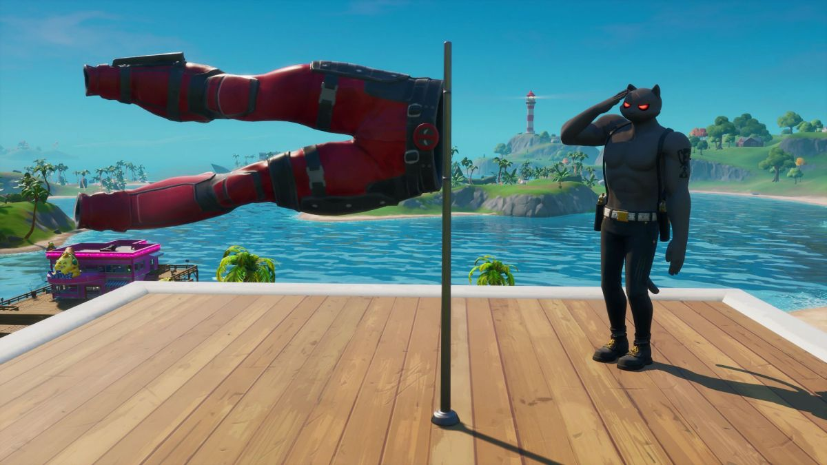 Fortnite Deadpool's pants location: Where to salute Deadpool's pants and unlock the X-Force outfit color thumbnail