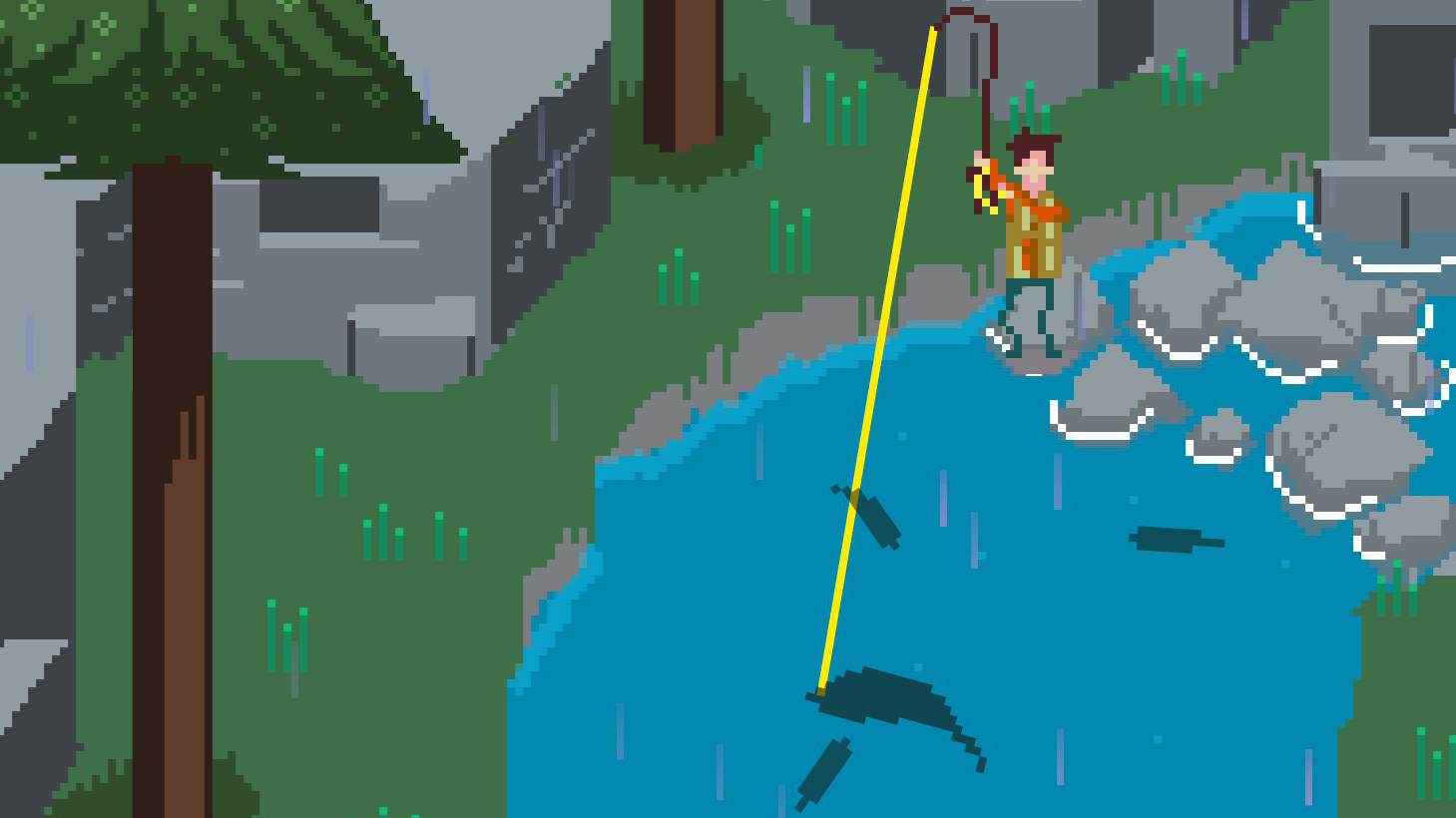 Sometimes you just need a relaxing pixel art fishing game