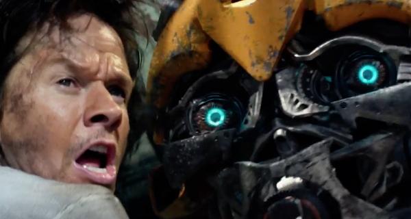 Mark Wahlberg and Bumblebee