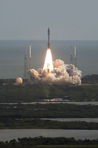 NASA's Mars Science Laboratory with its Curiosity rover lifts off atop a United Launch Alliance Atlas V rocket on Nov. 26, 2011 from Launch Complex 41 at the Cape Canaveral Air Force Station, Florida.