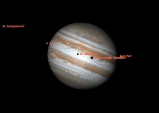 Moons to Cast Shadows on Jupiter Tuesday Morning