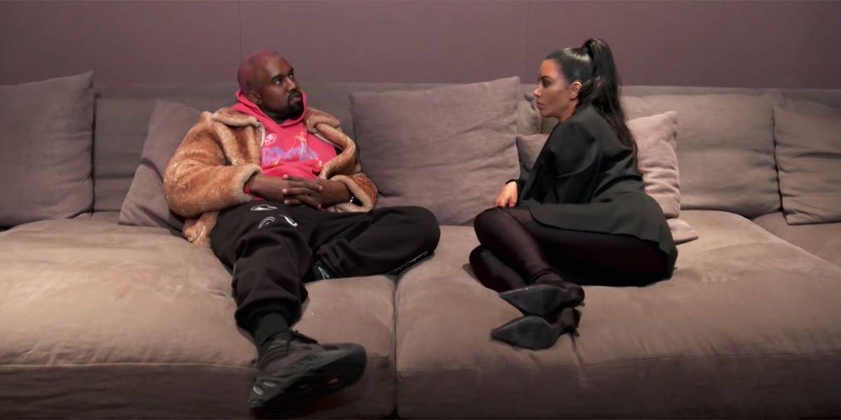 Kim and Kanye on Keeping up with the Kardashians screenshot