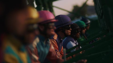 The race is about to begin in 'Jockey.'