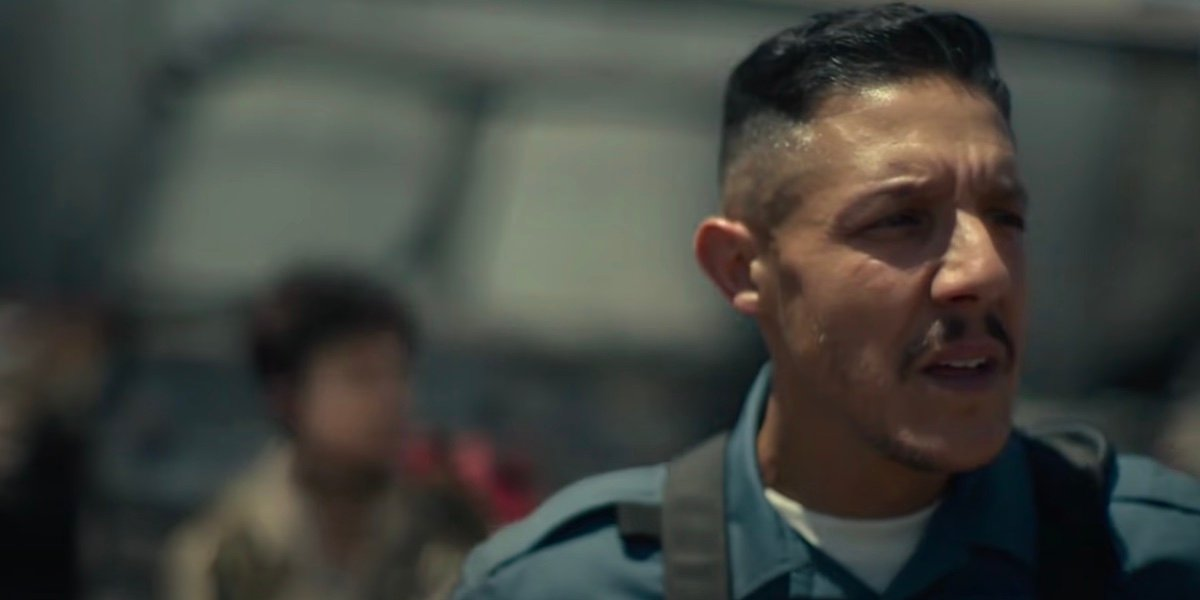 Theo Rossi as Burt Cummings in Army of the Dead.