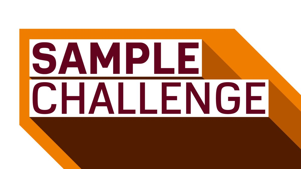 Get ready to take the Sample Challenge!