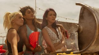 "Veronica Sanchez, Yany Prado and Lali Esposito in ""Sky Rojo"" on Netflix."