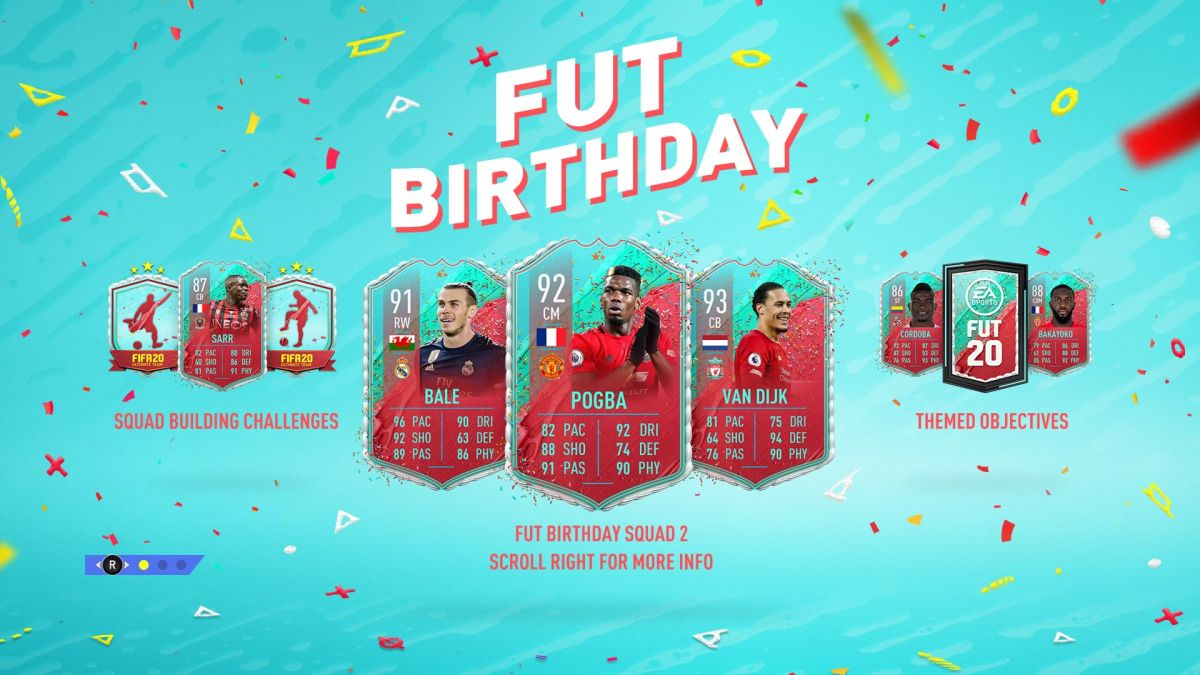 Fifa 20 Fut Birthday Guide Upgraded Van Dijk Pogba And Bale Cards Out Now Gamesradar